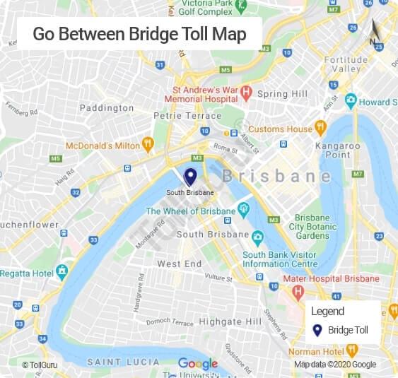 Go Between Bridge Brisbane toll booth locations