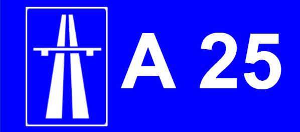 A 25 auto estrada
